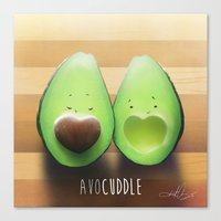avocado Canvas Prints featuring Avocado by Kurt Chang