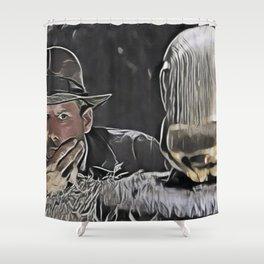 Indiana Jones Surprised Mistery Damned Hidden Treasure Action Shower Curtain