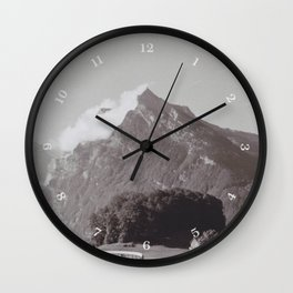 Winding Road and Mountain, Switzerland Wall Clock