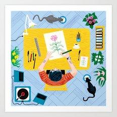 The Artist Art Print