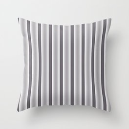 Gray Stripes Throw Pillow