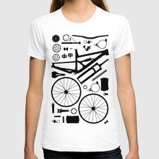Bike Parts - SAM MEDIUM White Womens Fitted Tee