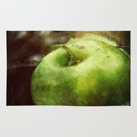 apple Area & Throw Rugs featuring Apple  by Bella Blue Photography