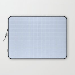Powder Blue and White Grid Pattern Laptop Sleeve