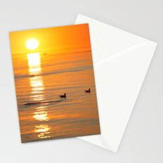 seagull at sundown Stationery Cards