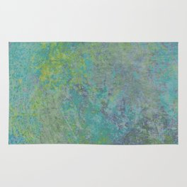 abstract in tie dye colors Rug