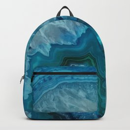 Teal Blue Agate slice Backpack