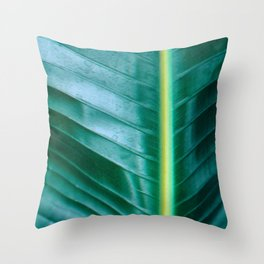 Botanical modern close-up Throw Pillow