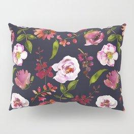 School Dayz Vintage Floral Watercolor Pillow Sham