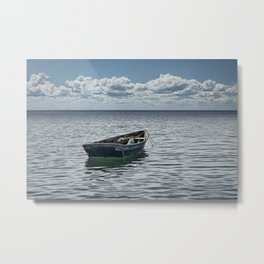 Maine Boat looking out to Sea Metal Print