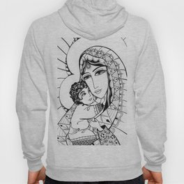 Madonna and Child as Indians Hoody
