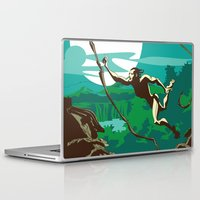 ape Laptop & iPad Skins featuring Ape Man by Tony Vazquez