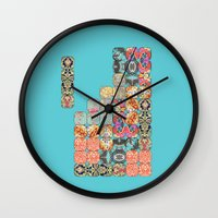tetris Wall Clocks featuring TETRIS by Bianca Green