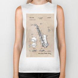 patent art Gillespie Saxophone 1945 Biker Tank