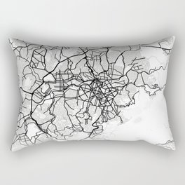 Belo Horizonte Light City Map Rectangular Pillow