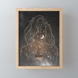 I see the universe in you. Framed Mini Art Print