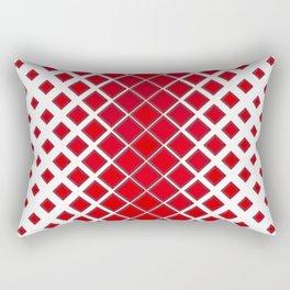 Diamonds Large to Small Red Rectangular Pillow