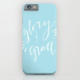 Glory and Grace // Blue iPhone Case