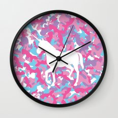 Unicorn's Breakfast [Camo Pattern] Wall Clock