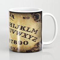 ouija Mugs featuring Ouija Board by Lostfog Co.