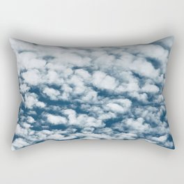 Cotton Candy Clouds Breathtaking Big Sky Photo Rectangular Pillow