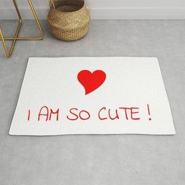 I am so cute-love,beauty,gorgeous,heart,cute,self-esteem,beautiful,women,girly,lovely Rug