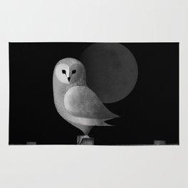 Barn Owl Full Moon Rug