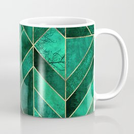 Abstract Nature - Emerald Green Coffee Mug