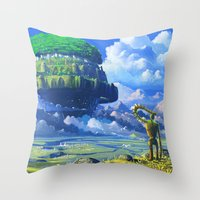 castle in the sky Throw Pillows featuring Castle in the sky by Roberto Nieto