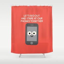Emojionally Available Shower Curtain