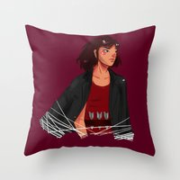 archer Throw Pillows featuring Archer by shirley