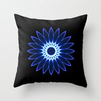 chakra Throw Pillows featuring Chakra by Mr. Pattern Man