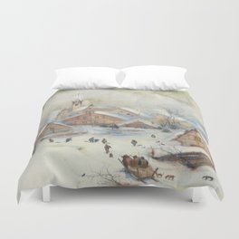 Christmas carols Duvet Cover