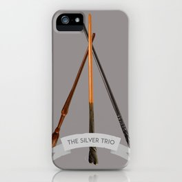 The Silver Trio iPhone Case