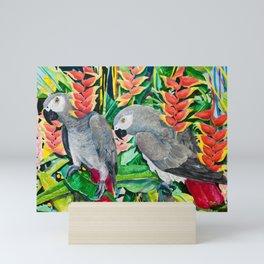 African Greys Mini Art Print