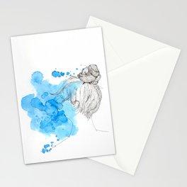 Messy Bun Stationery Cards