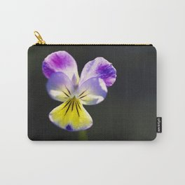 Johnny-Jump-Up Flower 2 Carry-All Pouch