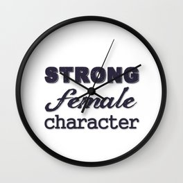 Strong Female Character Wall Clock