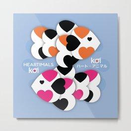 HEARTIMALS™ KOI ハート • アニマル Metal Print