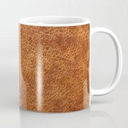 Brown vintage faux leather background Coffee Mug