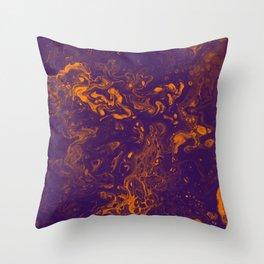 Golden Smoke - An Abstract Painting Throw Pillow