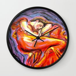 Flaming June at Night Wall Clock