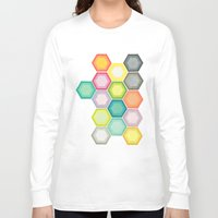 honeycomb Long Sleeve T-shirts featuring Honeycomb Layers by Cassia Beck