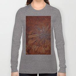 Brown flower Long Sleeve T-shirt
