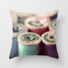 spools Throw Pillow