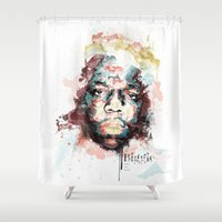 notorious Shower Curtains featuring Notorious B.I.G by I AM DIMITRI