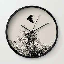 Exit Point  - Graphic Birds Series, Plain - Modern Home Decor Wall Clock