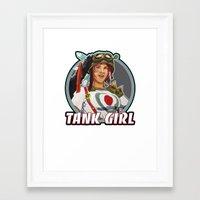 tank girl Framed Art Prints featuring Tank Girl by the Artisan Rogue