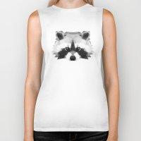 raccoon Biker Tanks featuring Raccoon by Taranta Babu