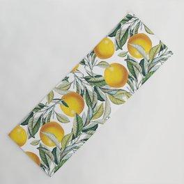 Lemon and Leaf Pattern VI Yoga Mat